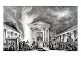 The Temple of Isis, Pompeii, from Saint Non's 'Voyage Pittoresque De Naples Et De Sicile' Giclee Print by Louis Jean Desprez