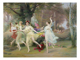 Dancing in a Circle Giclee Print by Jules Scalbert