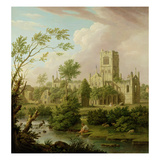 Kirkstall Abbey, Yorkshire, 1747 (Oil on Canvas) Giclee Print by George Lambert