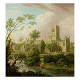 Kirkstall Abbey, Yorkshire, 1747 Giclee Print by George Lambert