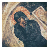 The Nativity, Detail of the Virgin (Fresco) Giclee Print by  Byzantine