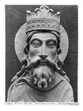 Head of Clovis I, from the Church Notre-Dame of Corbeil Giclee Print by  French