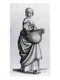 Maid Returning from Market, 1640 (Etching) Lmina gicle por Wenceslaus Hollar