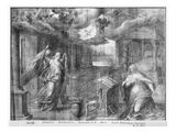 Life of Christ, Annunciation, Preparatory Study of Tapestry Cartoon for the Church Saint-Merri Giclee Print by Henri Lerambert