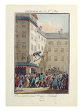 Events of the 22nd of October 1789: Hanging of a Man Named Francois, a Baker (Coloured Engraving) Giclee Print by Jean-francois Janinet
