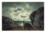 Bay Scene in Moonlight, 1787 (W/C over Pencil on Paper) Giclee Print by John Warwick Smith
