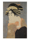 Matsumoto Yonesaburo in the Role of the Courtesan Kewaizaka No Shosho (Shinobu) Giclee Print by Toshusai Sharaku