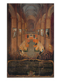 Opening Session of the Council of Trent in 1545, 1545 (Fresco) Giclee Print by Niccolo Dorigati