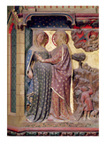 The Visitation, 1340-51 (Painted Stone) Giclee Print by Jean Ravy