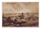 London from Greenwich, Engraved by Charles Turner (1773-1857) 1811 (Engraving) Giclee Print by J. M. W. Turner