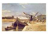 View of the Pont Royal, Paris Giclee Print by Johan-Barthold Jongkind