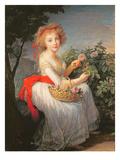 Elisabeth Louise Vigee-LeBrun - Portrait of Marie-Christine of Bourbon-Naples (1779-1849) - Giclee Baskı