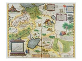 Map of the Russian Empire, 1588 (Hand Coloured Engraving) Giclee Print by Abraham Ortelius