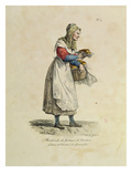 The Nanterre Cake Seller, Number 10 from 'The Cries of Paris' Series Giclée-Druck von Antoine Charles Horace Vernet