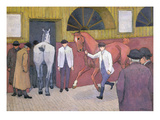 The Horse Mart Giclee Print by Robert Polhill Bevan