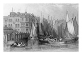 Billingsgate, Illustration in 'History of London: Illustrated by Views of London and Westminster' Giclee Print by John Francis Salmon