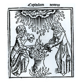 Witches Making a Spell, 1489 (Engraving) (B&W Photo) Giclee Print by  English