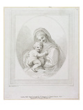 Virgin and Child, Engraved by Luigi Schiavonetti (1765-1810) 1793 (Engraving) Giclee Print by Francesco Bartolozzi