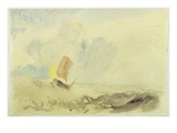 A Sea Piece - a Rough Sea with a Fishing Boat, 1820-30 (W/C on Paper) Giclée-tryk