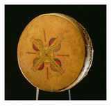 Osage Drum, from Oklahoma (Buffalo Hide) Giclee Print by  American