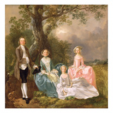Mr and Mrs John Gravenor and their Daughters, Elizabeth and Ann (Oil on Canvas) Giclee Print by Thomas Gainsborough
