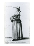 English Country Woman, 1643 (Etching) Giclee Print by Wenceslaus Hollar