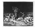 Dante and Virgil in Hell, Illustration from 'The Divine Comedy', 1861 (Engraving) Premium Giclee Print by Gustave Doré