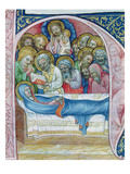Ms Xiii a 12 Burial of the Virgin, from 'Liber Viaticus' by Jean De Stredy, after 1360 (Vellum) Premium Giclee Print by  Czech