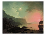 Vesuvius from Posillipo, C.1788 (Oil on Panel) Giclee Print by Joseph Wright Of Derby