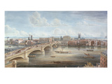 Another View of New London Bridge, Showing the West Front, Looking Towards Southwark Giclee Print by Gideon Yates