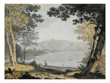 View of Skiddaw and Derwentwater, C.1780 (W/C and Pen over Pencil) Giclee Print by Joseph Farington