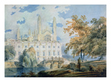 Clare Hall and the West End of King's College Chapel, Cambridge, from the Banks of the River Cam Giclee Print by Joseph Mallord William Turner