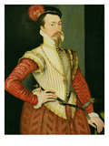 Robert Dudley (1532-88) 1st Earl of Leicester, C.1560S (Oil on Panel) Giclee Print by or Muelen, Steven van der Meulen