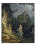 Visitor to a Moonlit Churchyard, 1790 Giclee Print by Philip James Loutherbourg