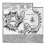 A Plan of the Dutch Fort at the Cape of Good Hope and a Draught of Table Bay (Engraving) Giclee Print by  English