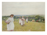 The Picnic (W/C on Paper) Premium Giclee Print by Henry Crockett
