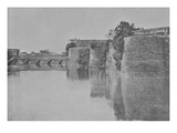 The Fort Surrounded by Canal, Bharatpur (Engraving) Giclee Print by Raja Deen Dayal