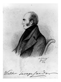 Walter Savage Landor (1775-1864) (Pencil on Paper) (B&W Photo) Giclee Print by Alfred d' Orsay
