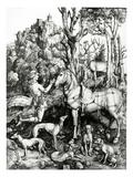 St. Eustace, 1501 (Engraving) Giclee Print by Albrecht Dürer
