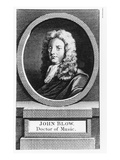 Portrait of John Blow (1649-1708) (Engraving) Giclee Print by  English