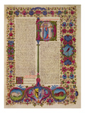 Fol.231R First Letter from St. Peter to the Apostles, from the Borso D'Este Bible. Vol 2 (Vellum) Premium Giclee Print by  Italian