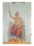 Alexander the Great, Possibly as Zeus (Fresco) Giclee Print by  Roman