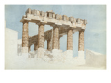 The East End and South Side of the Parthenon, C.1813 (W/C and Graphite on Paper) Giclee Print by John Foster