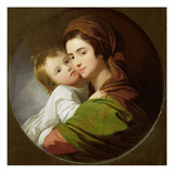 The Artist&#39;s Wife, Elizabeth, and their Son Raphael, C.1773 (Oil on Canvas) Giclee Print by Benjamin West