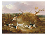 Beagles in Full Cry, 1845 Giclee Print by John Dalby