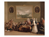 Rehearsal of an Opera, C.1709 (Oil on Canvas) Gicle-tryk af Marco Ricci