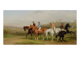 Steeplechasing: at the Start (Oil on Canvas) Giclee Print by William Joseph Shayer