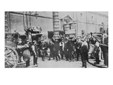View of Expert Basket Carriers and a Group of Market Men, 1900 (B/W Photo) Giclee Print by  English Photographer