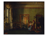 Interior in the House of Prince Alexander Golitsyn in Rome, 1830 (Oil on Canvas) Giclee Print by Silvestr Fedosievich Shchedrin