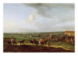 The Round Course at Newmarket, Preparing for the King's Plate, c.1725 Giclee Print by Peter Tillemans
